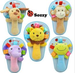 Wholesale 18 CM Sozzy Infant Boys Girls Plush Toys Varita Rattle Brinquedos Baby Kids Christmas Gift Cartoon Stuffed Animal Hand Toy H2445
