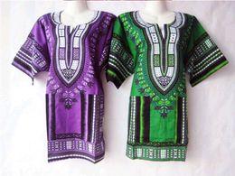 Wholesale-5Colors New african fashion design african Women T Shirt Dashiki traditional print Dashiki tshirt dress for lady longline dress