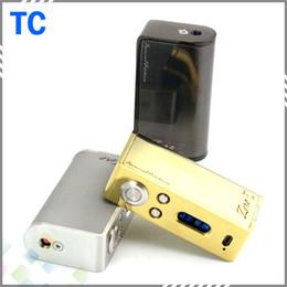 Wholesale High quality Zero W TC Mod apply all the nickel wire Zero Temperature Control E Cigarette fit Battery Colors thread DHL Free
