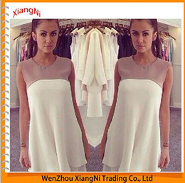 Wholesale 2015 New Amazon Beach Sleeveless Cotton Maxi Lace White Woman Dress Chiffon Female Summer Style Dresses Sexy Plus Size Vestido order lt no t