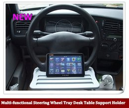 Wholesale Hot sale Universal Car Multi functional Steering Wheel Tray Desk Table Support Holder for Tablet PC Laptop Cup Drink Food Books order lt no