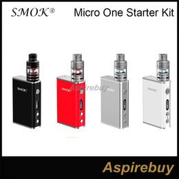 Wholesale Original Smok Micro One Starter Kit R80 TC Box Mod W with Micro TFV4 Tank mm SMOK Micro One Starter Kit Best Matching Kit