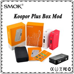 Wholesale Authentic Smok Koopor Plus W TC Mod Koopor Plus Temperature Control Box Mod Dual Driver System Fit Battery VS Snow Wolf Xcube II
