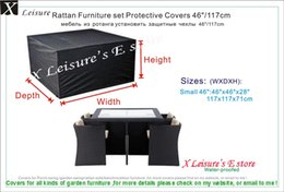 Wholesale Rattan furniture set Protective cover quot garden furniture cover water proofed cover for outdoor furniture