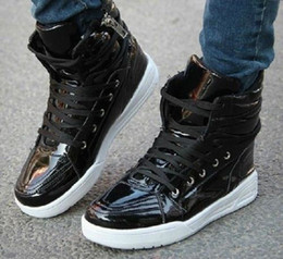 Mens Lace Up Punk Rock Zip High Top Skateboarding Boys Shoes Ankle Boots Sneaker