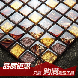 Wholesale Jasmine European high end crystal glass mosaic tile bathroom wall stickers backdrop entrance puzzle