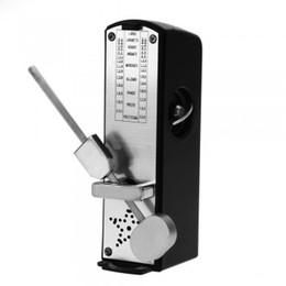 Plastic Cover Super Mini Mechanical Metronome for Musicians Piano Violin Guitar- Black