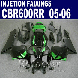 Injection Molding green in black for HONDA CBR 600 RR fairing 2005 2006 cbr600rr 05 06 cbr 600rr fairing kit RB7F