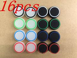 Descuento controladores de xbox para la venta Cubierta antideslizante de los casquillos de la palanca de los palillos de los casquillos coloridos del silicón 16pcs 3D para la venta de los reguladores sin hilos de PS3 / PS4 / XBOX ONE / XBOX 360