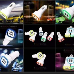 Wholesale High Quality Micro Auto Universal Dual USB Car Charger V A Mini Adapter With Short Circuit Protection for cell phone and table PC