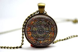 Wholesale 10PCS The Seal of the Seven Archangels and Olympic Spirits Pendant Necklace Glass Photo cabochon necklace