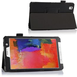 Wholesale For Samsung Galaxy Tab Pro T320 Tablet Case Flip Leather Skin Pouch Back Stand Cover Ship Registered Air Mail