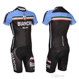 Wholesale 2015 freeshipping custom bike jersey bianchi cycling apparel men short sleeve bib sets