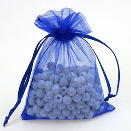 Wholesale personalized bags wedding gift bag ideas Organza blue Favor Candy Jewelry Pouch For Packaging Decoration Free Ship cm