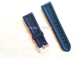 Ver negro núcleo suunto en venta-Para mayor-Suunto Core 24mm Correa de silicona a prueba de agua Negro banda de reloj + Adaptador + Hebilla-6 + free