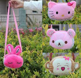 Hot Sale Little Girls Single Shoulder Bag children Accessories Cute Cartoon Modelling Kids Leisure Bag Two Size 20pcs lot T697
