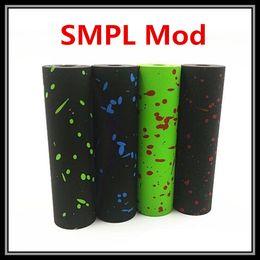 Wholesale 18650 SMPL Clone Mod Zombie Splatter Colors SMPL V2 Battery Vape Mods Best Fit Velocity Mini Steam Crave V2 Mad Hatter RDA Atomizers