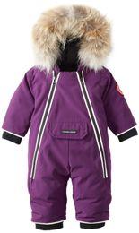 Wholesale Bulu rakun besar anak anak untuk anak laki laki baby blue bawah baju monyet anak Bawah mantel Jumpsuit mantel musim dingin
