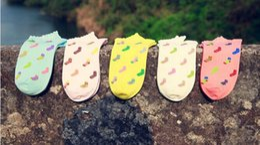 Wholesale-2015 New Design Women's socks Female Diamond Lattice Socks Cotton Candy Color Cotton socks