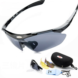 Wholesale-New Arrival Mens Cycling Glasses UV400 Outdoor Windproof Eyewear Mountain Bike Motorcycle Sunglasses for Women 3 Lens