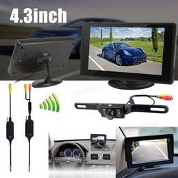 Wholesale 4 Inch Color TFT Car rear view reverse Monitor Support x Resolution IR Wireless Car Backup Camera CMO_50E