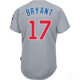 Wholesale Cheap Baseball Jerseys Chicago Cubs Kris Bryant Road Grey Jersey Authentic Baseball Cool base Jerseys