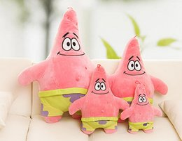 Wholesale cm cartoon spongebob patrick stuffed animal doll spongebob and patrick star plush toy best baby toy patrick plush