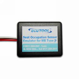 Wholesale-Seat Occupancy Occupation Sensor SRS Emulator for Mercedes Benz E W211 SL W230 SLK W171 Airbag Light Reset Tool Type 2