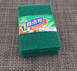 Wholesale Household kitchen supplies water decontamination nonstick oil clean cloth backboard sponge wash cloth rag Pack