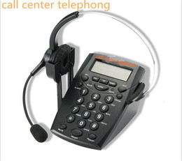 Call Center Dialpad Headset Telephone with Tone Dial Key Pad