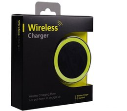 Wholesale S6 Qi Wireless Charger Cell phone Mini Charge Pad For Qi abled device Samsung nokia htc LG cellphone with retail package