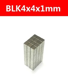 Hot sale 100pcs Super Strong Small block Neodyminum magnets 4x4x1mm Rare Earth Neodymium Magnet Art Craft Fridge free shipping