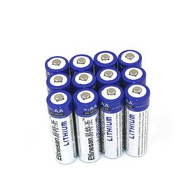 Wholesale 12pcs ETINESAN AA Long lasting V Lithium Batteries Fit for Digital Camera game mp3 free ship