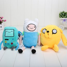 Wholesale 3pcs quot style Cartoon Toy Anime Adventure Time Finn And Jake Beemo BMO Plush Doll classic toys Best Toy
