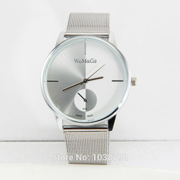 Wholesale The supply of new steel table surface mesh belt small second hand fashion watches for men and women personality quartz watch