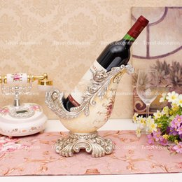 Wholesale Fashion home wine rack decoration luxury resin wine holder living room wine cabinet entranceway new house decoration