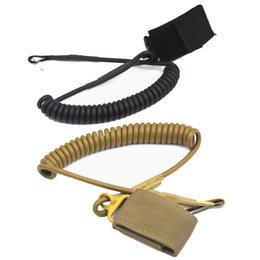 Wholesale tactical Safety System Outdoor Belt CS Backpack Accessories Retractable Cord Safety Rope Gun Rifle Pistol Sling