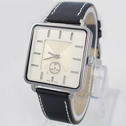 2017 Hot sale Fashion Brand Man Women watch leather wristwatch famous logo Dress Watch Quartz Clock Steel lovers' Quartz watch free shipping