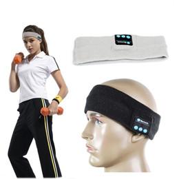 Wholesale 2016 New Design outdoor Sports knitting Bluetooth headband headphone with Stereo Wireless Bluetooth Hat Earphone