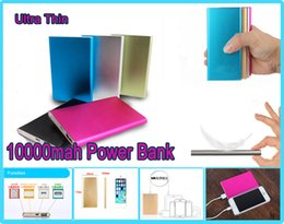 Promotion Portable Powerbank Ultra thin powerbank 10000mah Universal Ultra Thin Power Bank 10000 mAh External Battery Backup Charger