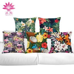 muchun Brand Thicken Pillow Case Tropical Plants 2017 New Arrival 45*45cm Christmas Cotton Linen Home Textiles Sofa Throw Pillow Cover