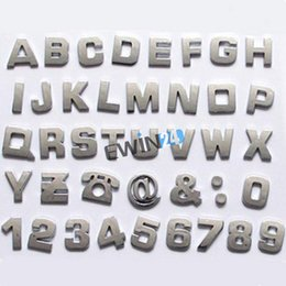 Wholesale Easy install Chrome Alphabet Letters Auto Emblems Number badges D decal For Car Bike