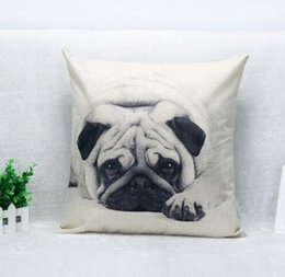 Wholesale-Shar Pei Dog Throw Cotton Linen Pillow Case Home Decorative New Cover Throw Pillow Cushion 18*18 Inch