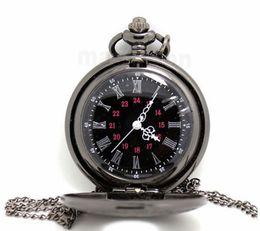 black classic Roman Pocket watch vintage pocket watch Men Women antique models Tuo table watch PW025