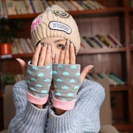 Descuento tipos de pantalones cortos para las mujeres Oficina invierno del envío Al por mayor-Libre 1Pairs encantadora de la manera del `s` s Mecanografía Redacción Knitting Corto medios guantes