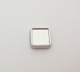 6mm inner 8mm outside diameter silver blank square floating charms for glass living locket DIY photo charms fit lockets jewelry