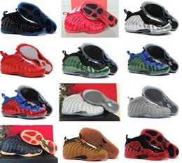Wholesale 2016 New nike foamposite basketball shoes air foamposites One Galaxy shoes Penny Hardaway lighted sports shoes for men