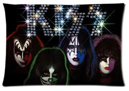 KISS American Rock N Roll Band Cool Pattern Custom Pillowcase Cover Two Side Picture Size 20x30 Inch