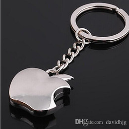 Wholesale 9297 Novelty Souvenir Metal Apple Key Chain Creative Gifts Apple Keychain Key Ring Trinket