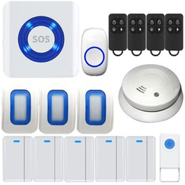 Wholesale Wireless Doorbell Kit WIFI Android IOS APP Smart Enabled Cloud Monitor Home Security Fire Alarm System Premium Portable Door Chime And Push